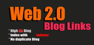 30+ WEB 2.0 Blogs Dedicated accounts within 24 hours