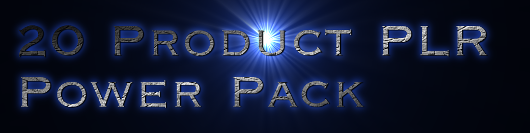 20 PLR Power Pack - Mixed Variety