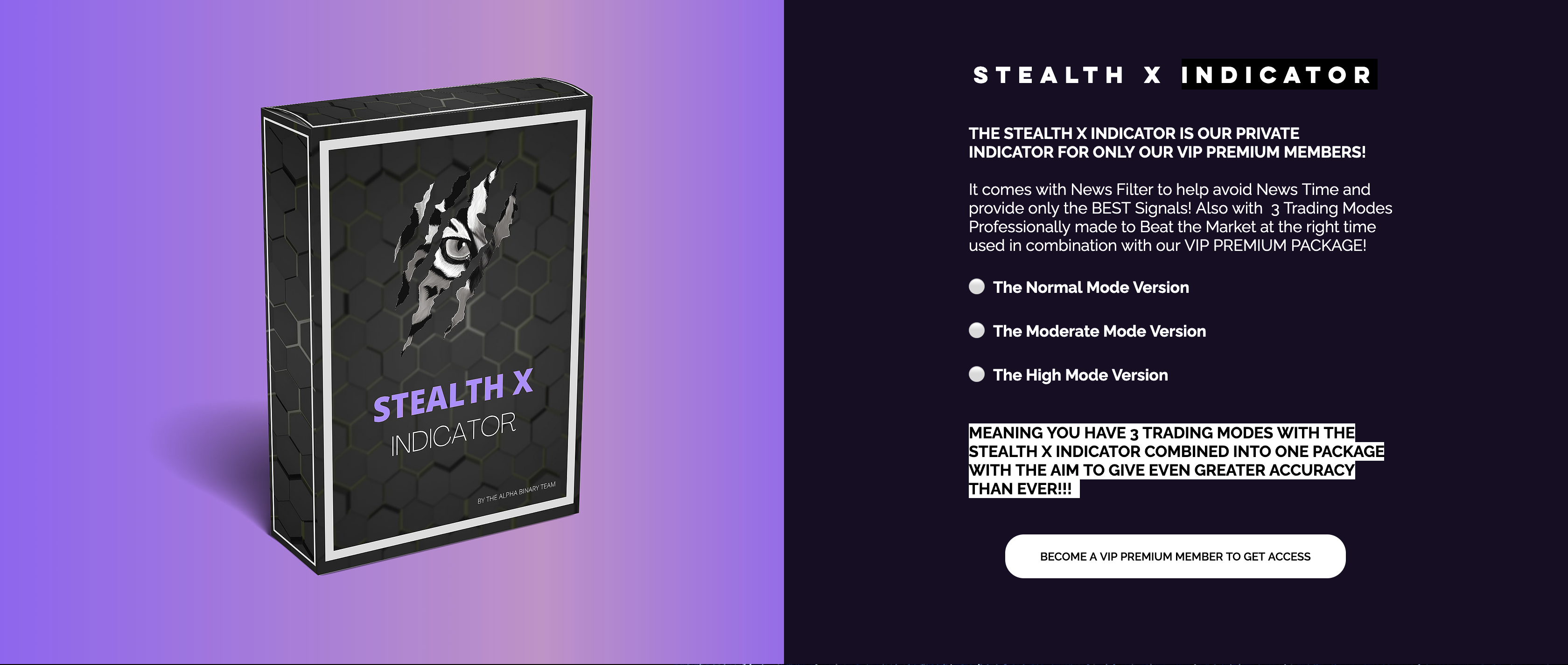 Stealth X Indicator - Alpha Binary Team