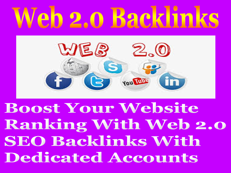 Create Manually 50 Web 2.0 PERMANENT SEO BACKLINKS