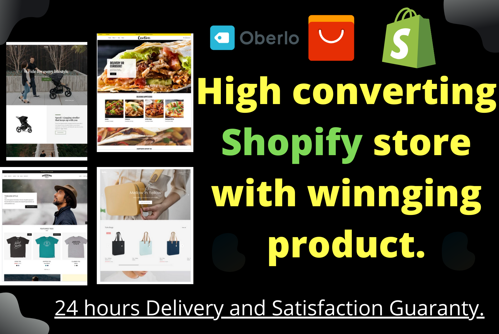 I will make a high converting shopify store with winning product