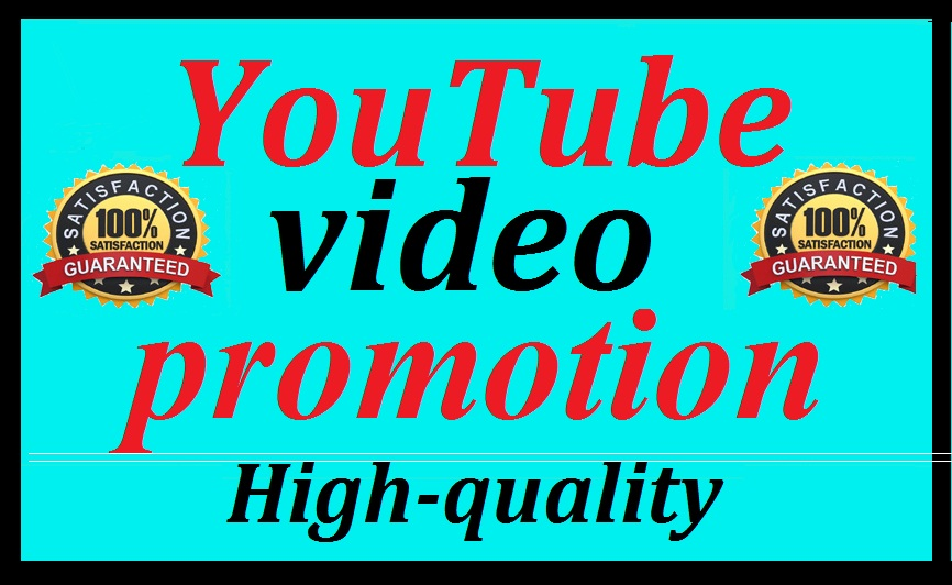 High Quality YouTube Video Promotion Social Media Marketing