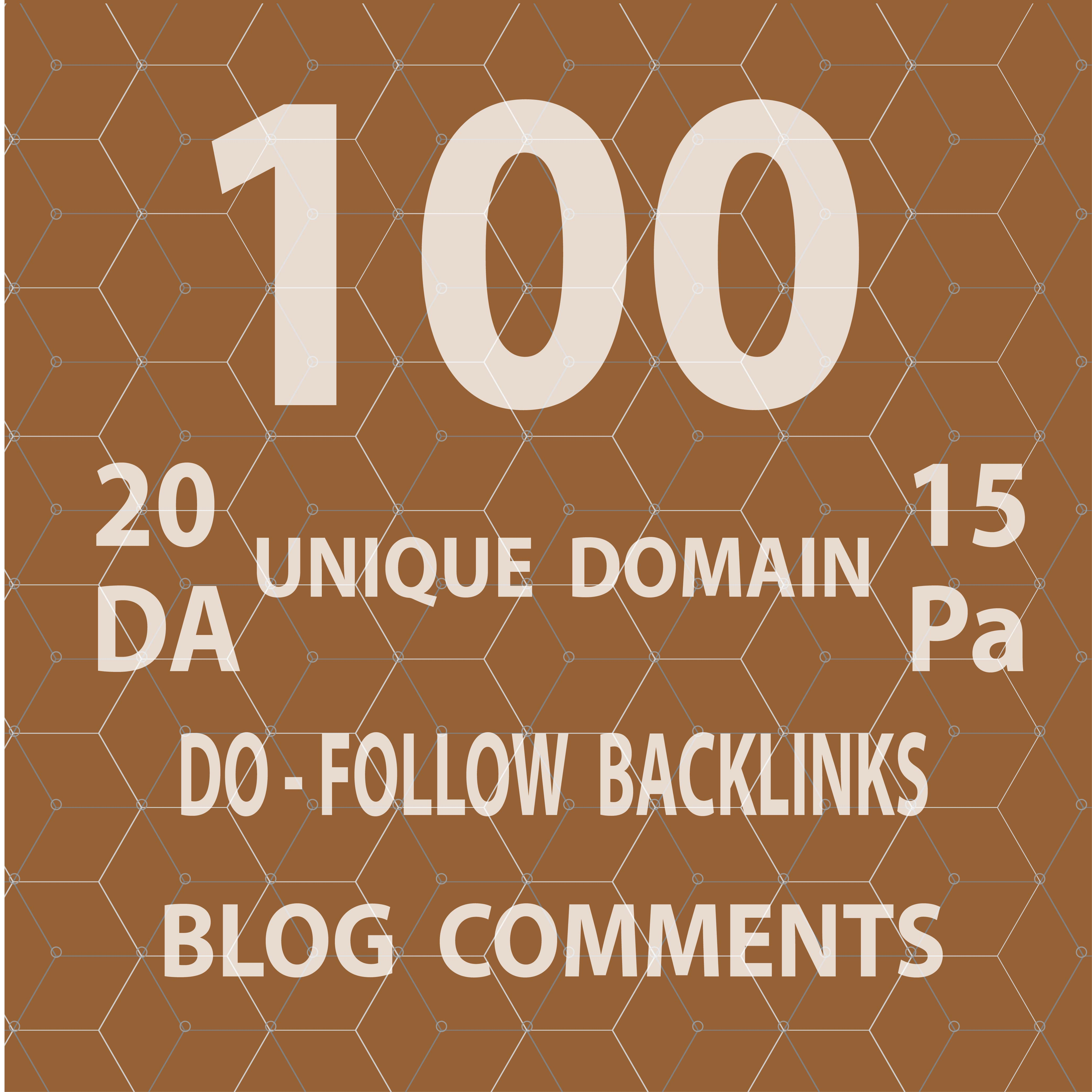 Provide 100 Dofollow blog comment backlinks