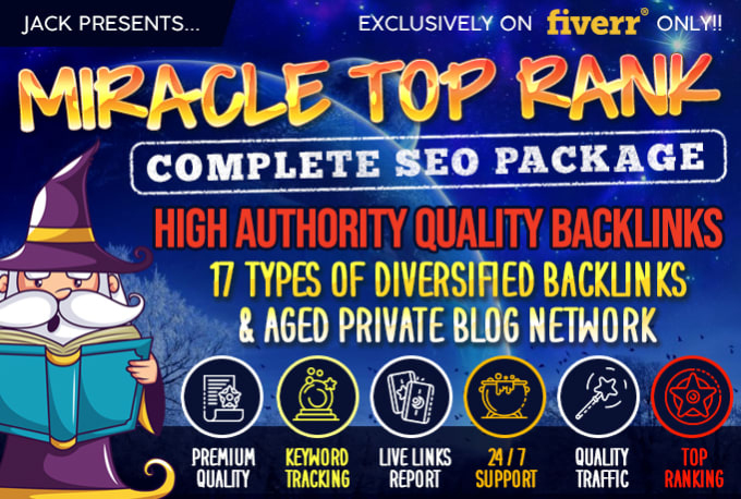 I will do complete SEO package for your website top ranking