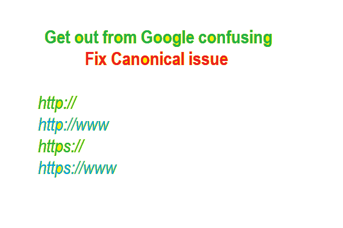 Fix Canonical Issue Get Out From Google Confusing