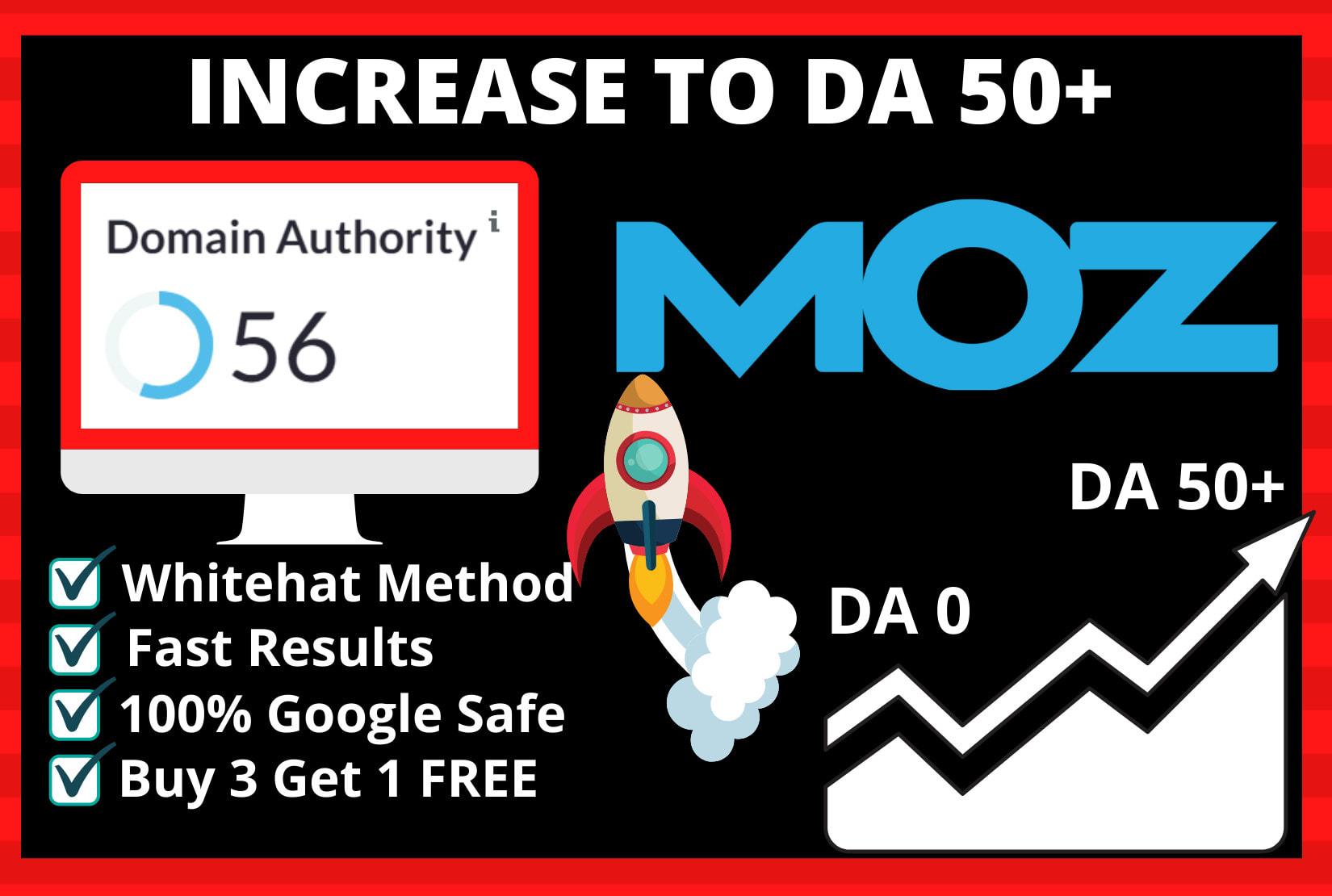 Increase MOZ DA 0 to DA50+ 100 Guaranteed Work Done