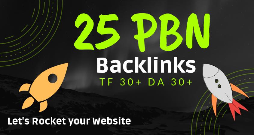 Do 25 Manual High TF 30+,  DA30+ Homepage PBN Links