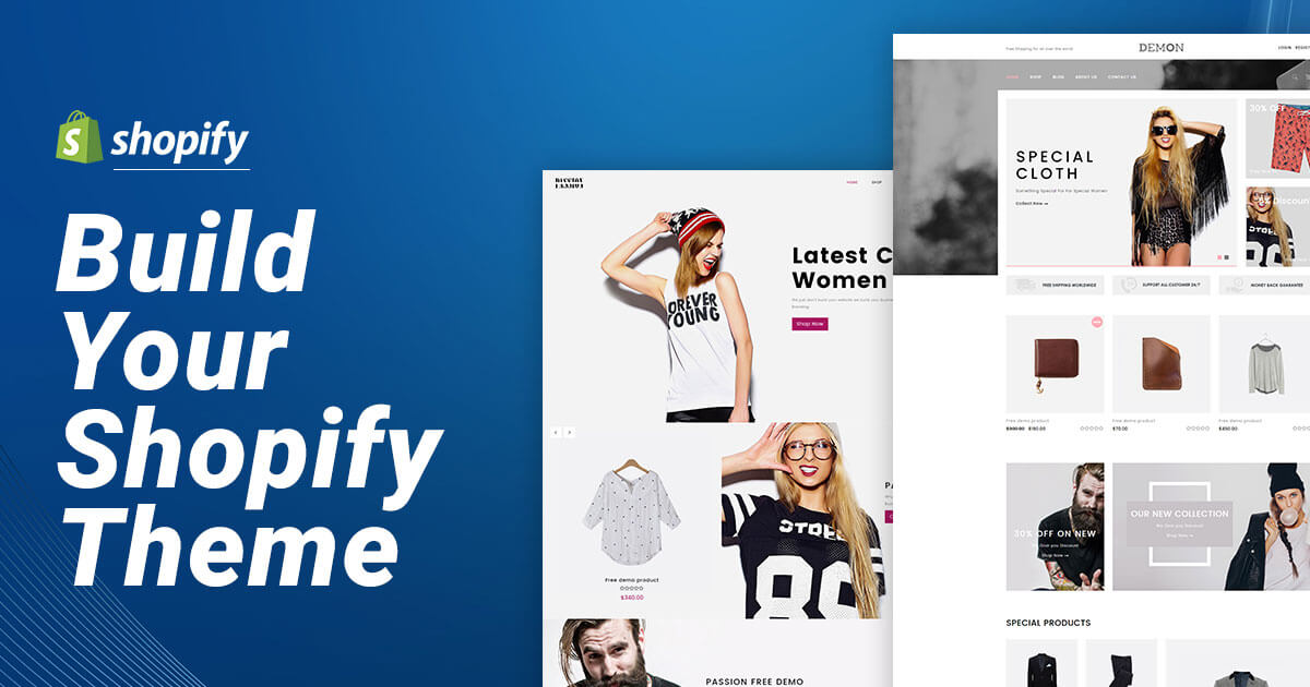 Create Or Customize Shopify Store With Premium Theme And SEO