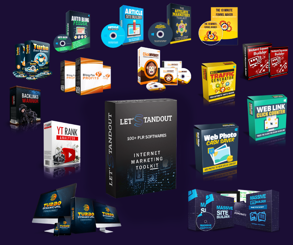 100 Premium Web and Internet Marketing Software Collection With PLR and MRR + Bonuses