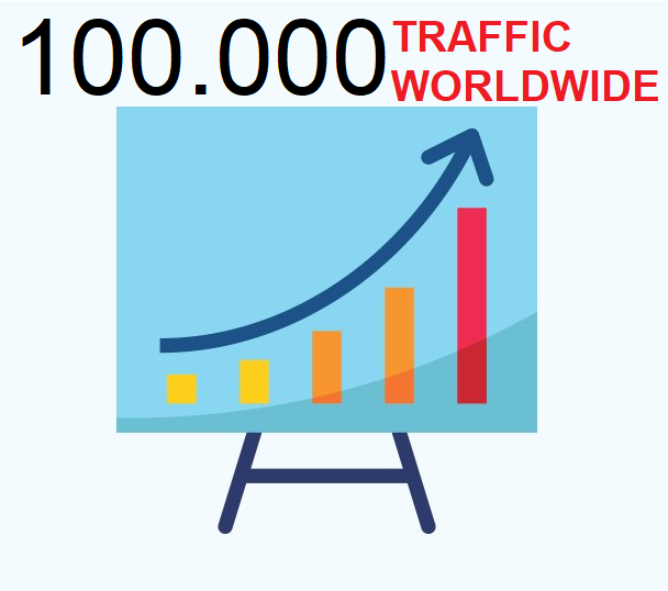 100,000 Traffic Human Real Organic Search Engine And Social Media For Website Blog Url