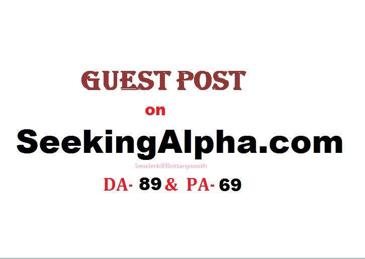 Able to publish indexed content on SeekingAlpha. com DA-89