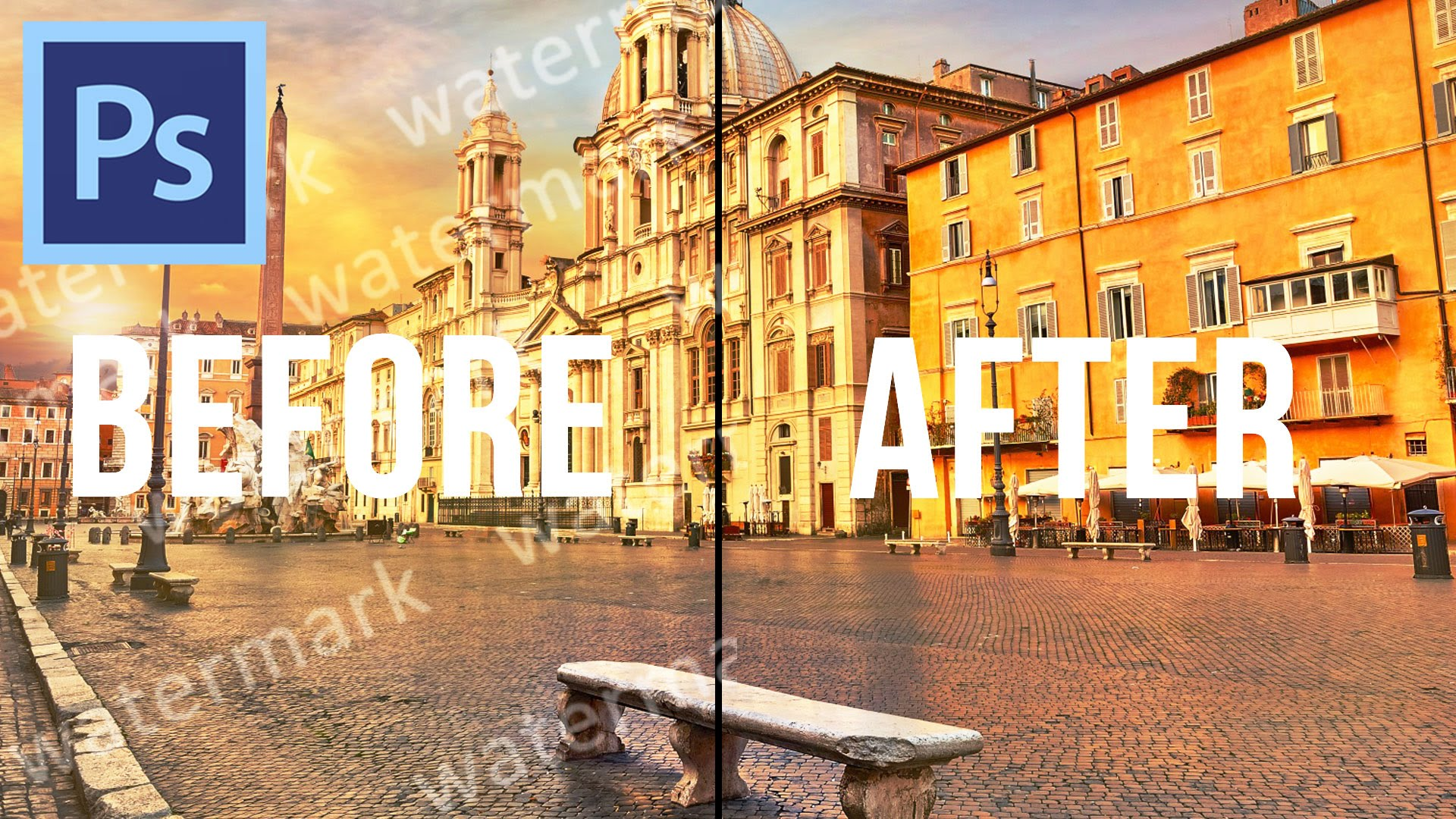 Remove watermark,  people and date stamps from your photos
