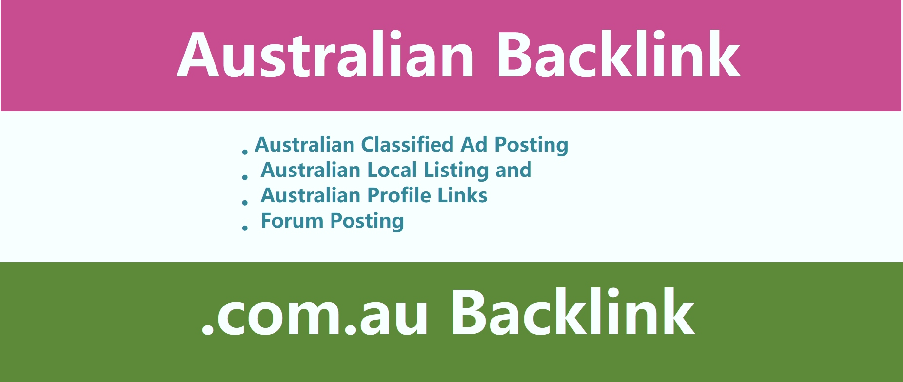 Provide 30 high DA australian com au domain links, . com. au backlinks