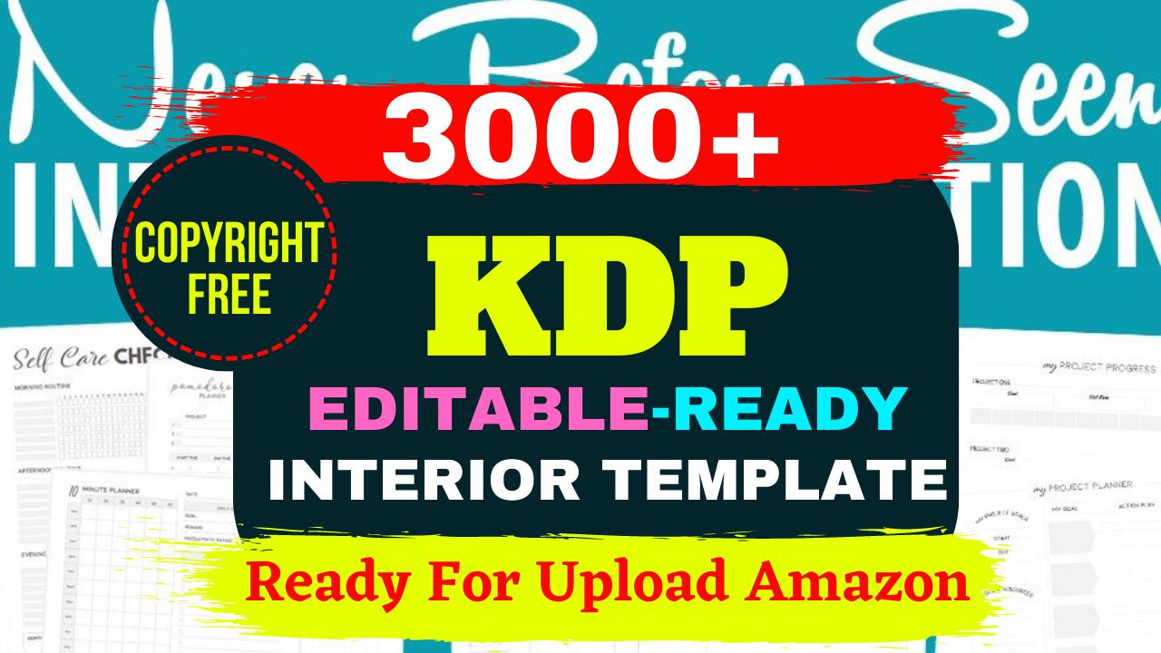 KDP 3000+ Mega Editable Bundle Ready Templates