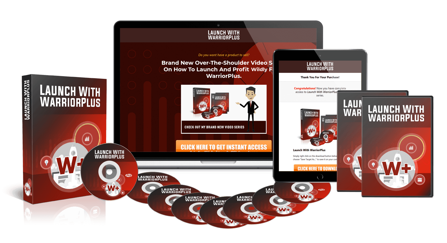 Get Launch With WarriorPlus Video Training With Sales Funnel and PLR