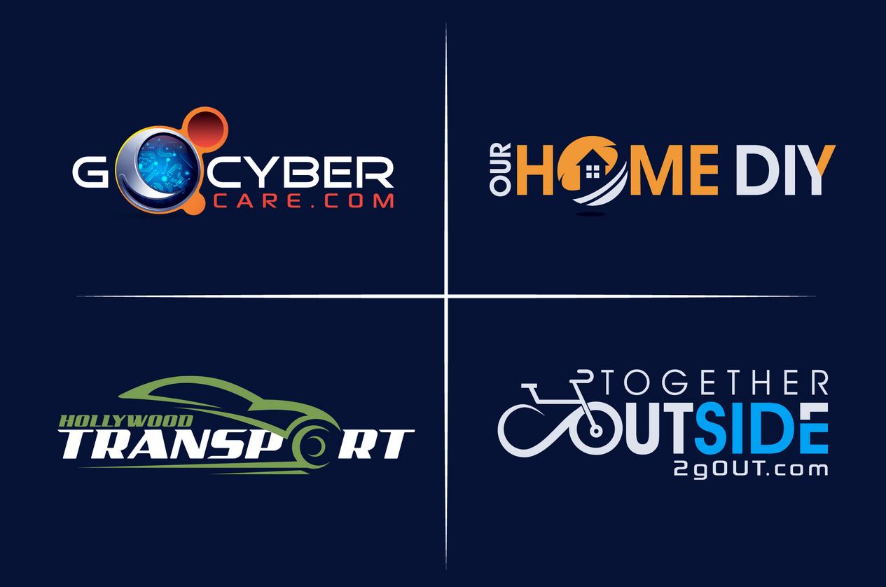 I will design unique minimalist business logo and business card design