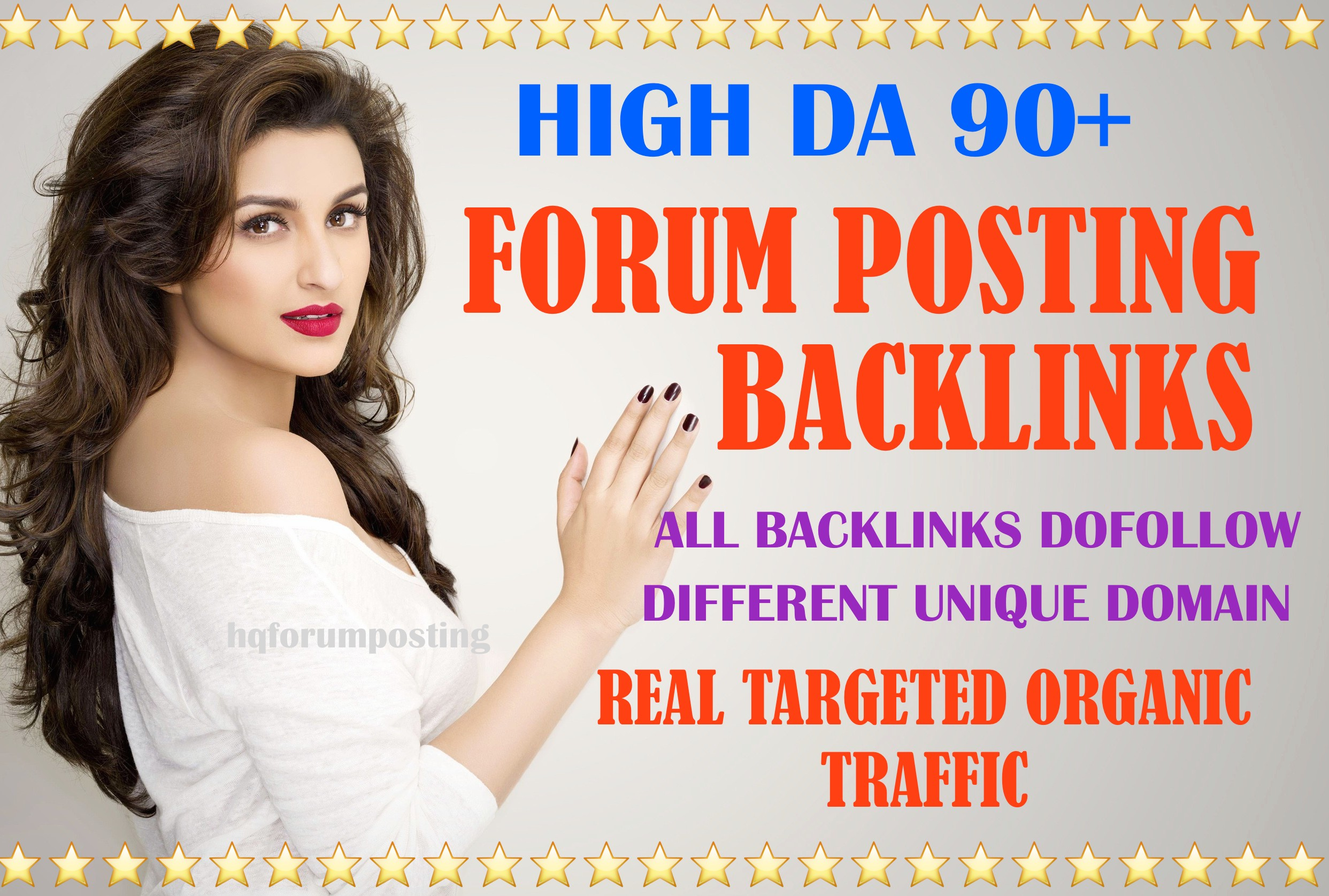 50 High authority dofollow forum posting backlinks,  DA & DR 50 to 90+