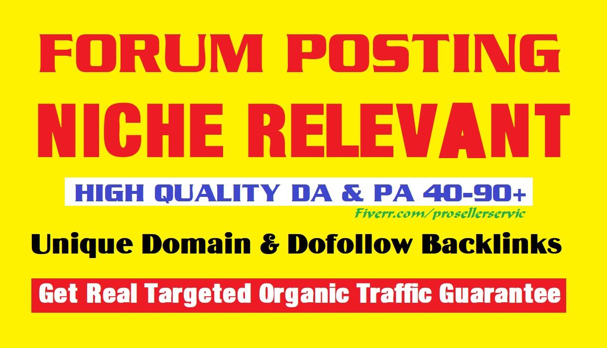 30 Unique domain DA & PA 50 plus forum posting backlinks