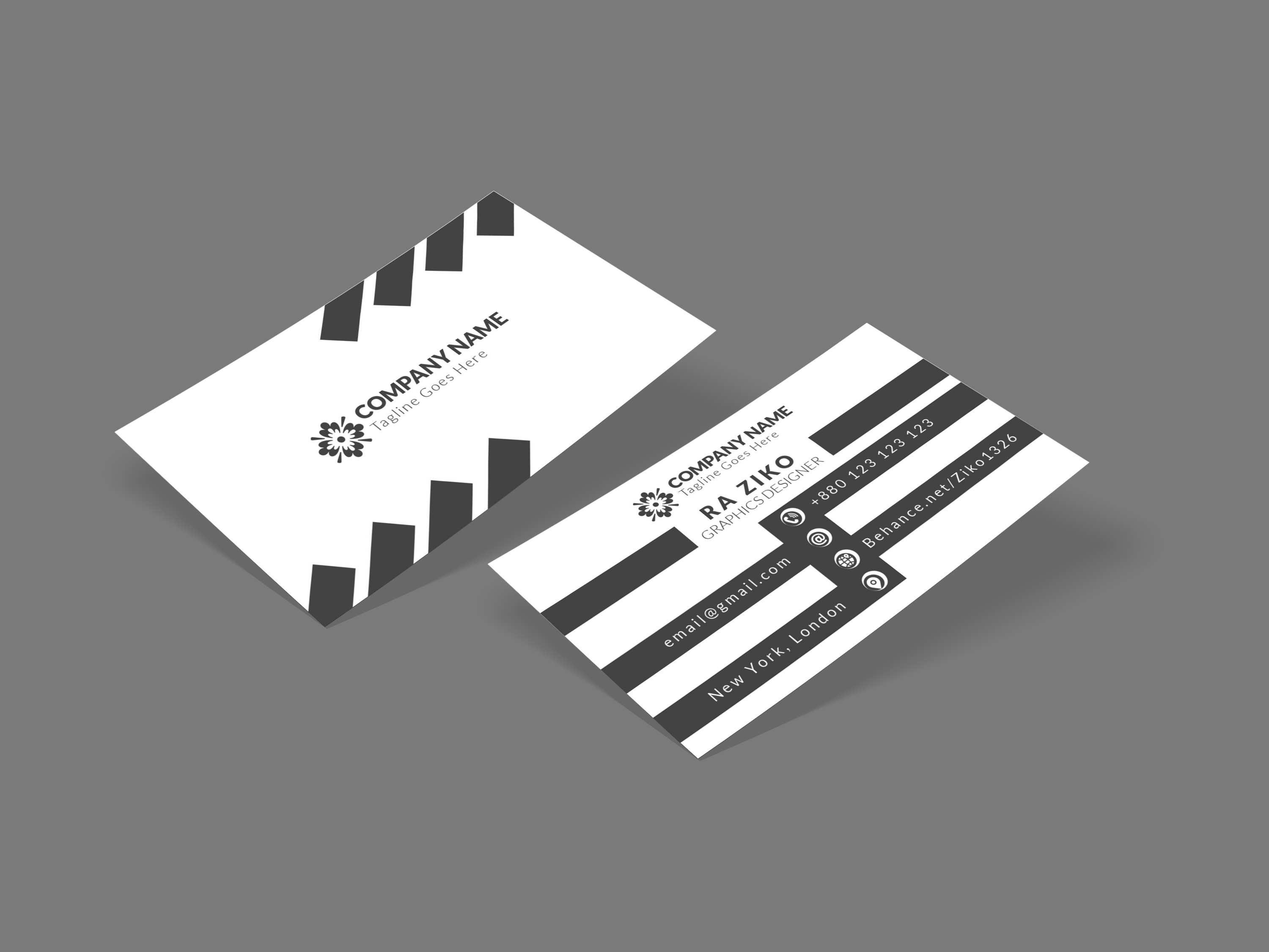 Design a professional double or one sided Business Card