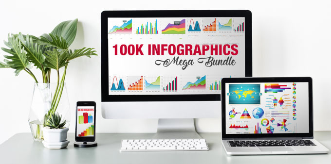 I will send 100,000 infographic design mega bundle pack and extras
