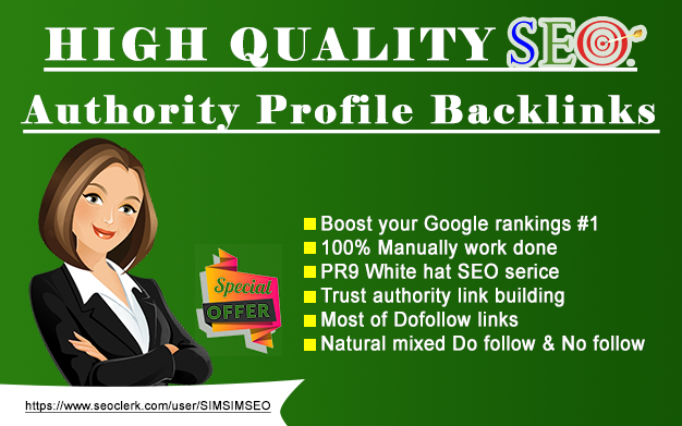 provide pr9 high authority 25 profile backlinks seo