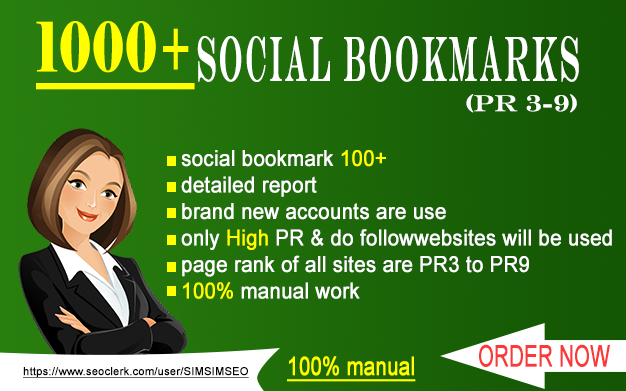 """""""I will"""" help you to govern search engines by 100 social bookmaking backlinks"""