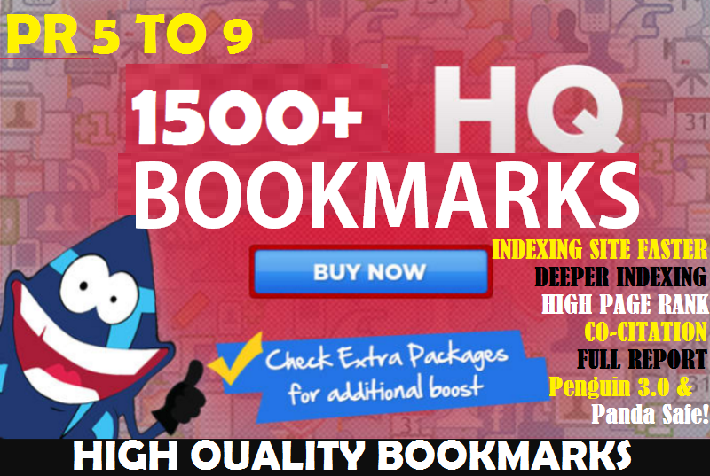 1500+ Bookmarks - Influence your SEO strategy with this powerful add-on