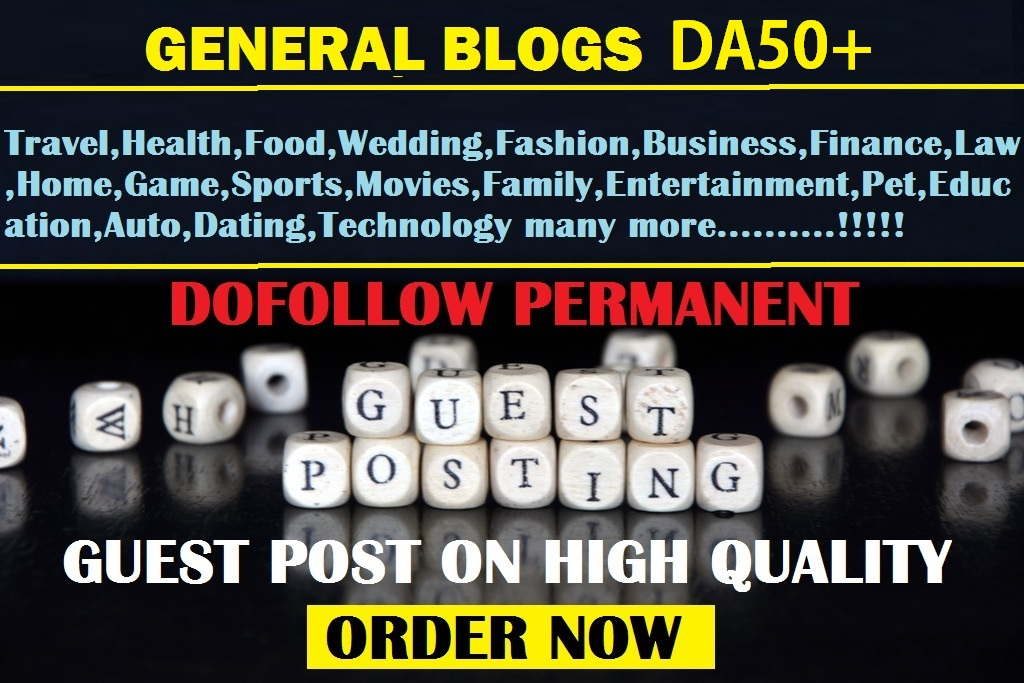 guest post on business, tech, auto, dating, movies General DA50 blog
