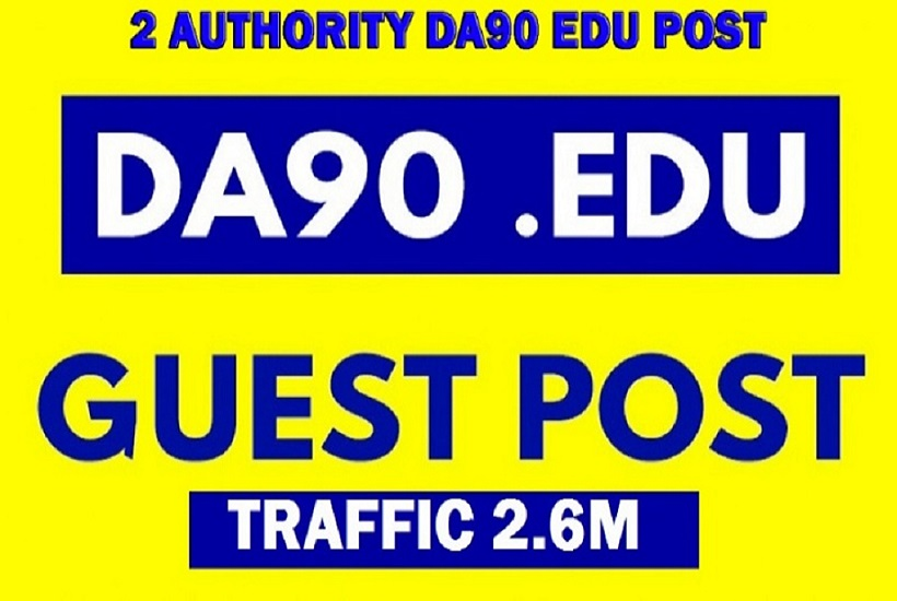 Write & Guest post on 2 Quality DA90+ Traffic 2.6M blog