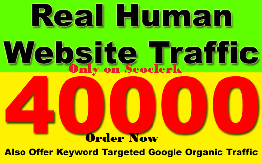 send Daily 1500 keyword target real human traffic for 2 Months