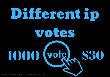 best offer provide 1000 Different IP votes your contest voting service