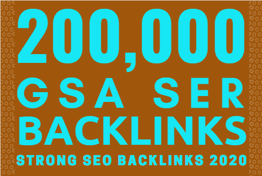 200,000 GSA SER SEO Backlinks For Page 1 Google Ranking Link Juice & Faster Index