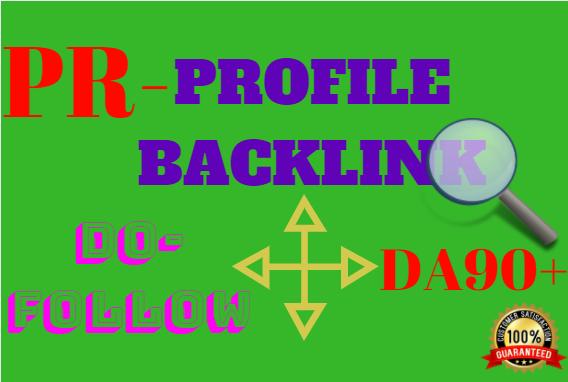 do 100 high domain authority SEO profile backlinks