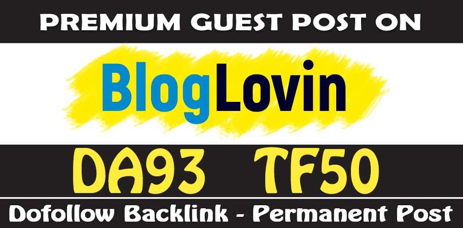 Publish Guest Post on Bloglovin - DA93 TF50 - Dofoll0w Backlink