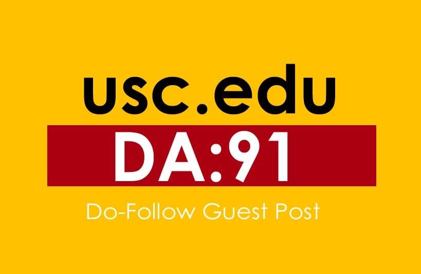 I will publish guest post on da 91 usc education website