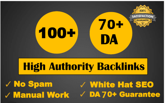 I will build Manual 100 backlinks from unique domain on da 100