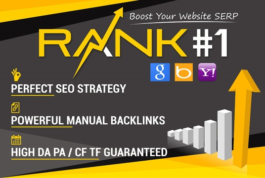 I will Boost Your Website Ranking To The TOP Position on Google,  Bing,  Yahoo with Manual Backlinks