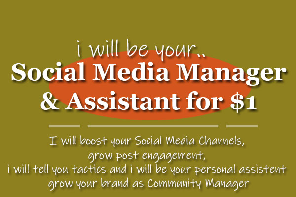 I will be your social media and community manager
