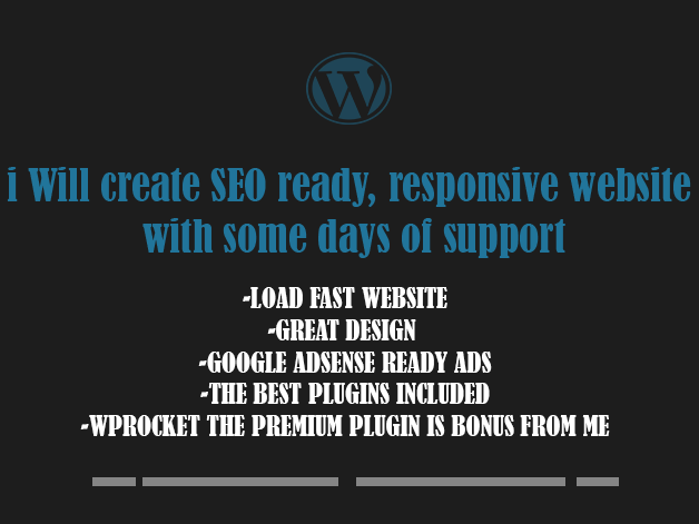 i will create and setup SEO friendly and responsive website