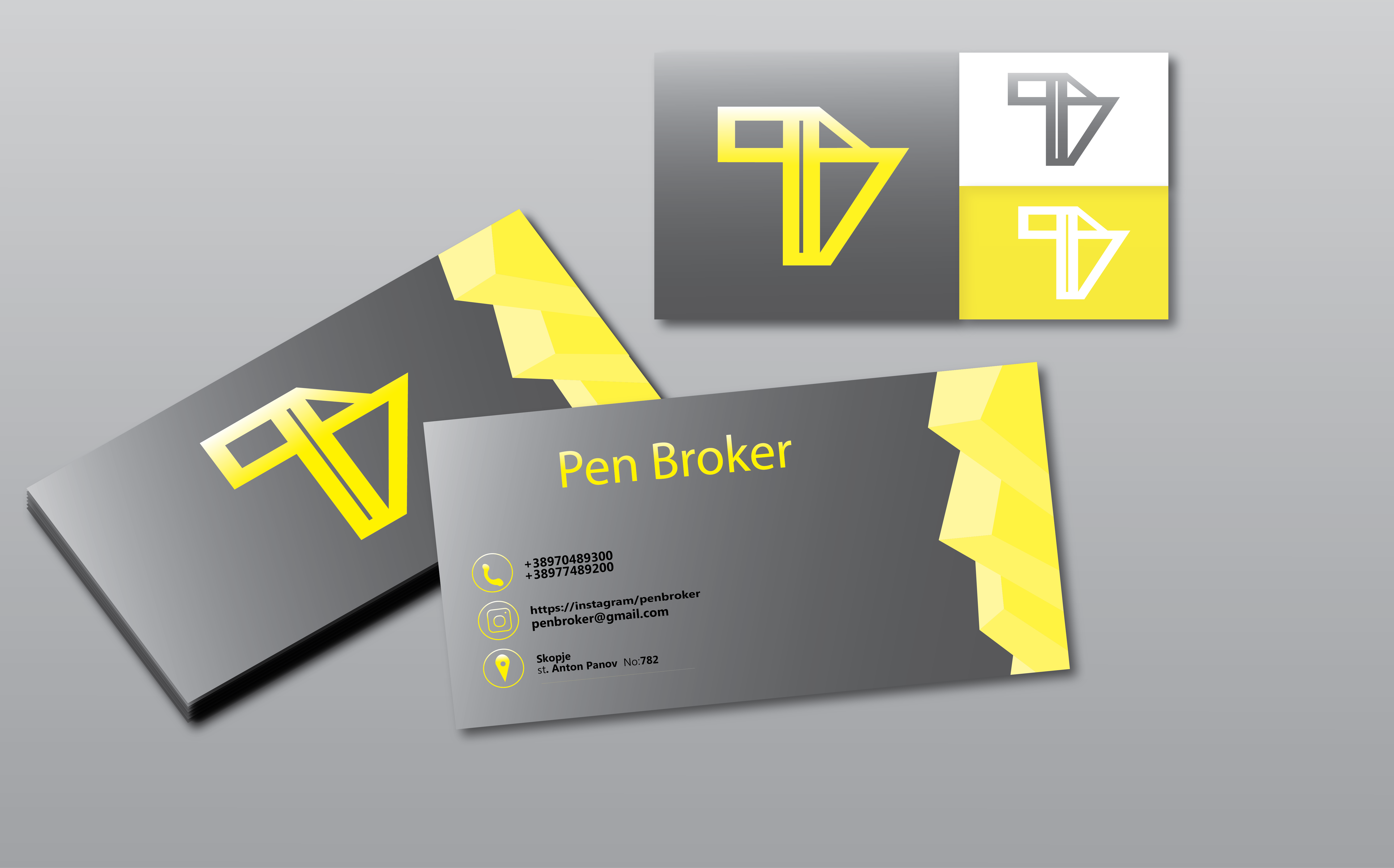 i will design professional logo + business card