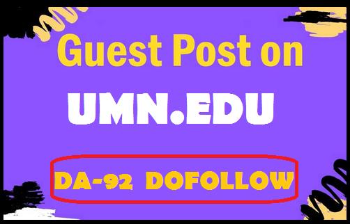 Guest post on University of Minnesota Edu Blog umn. edu,  DA 92 and DR 91