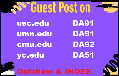 Guest Post on Top Universities .edu sites High DA and DR
