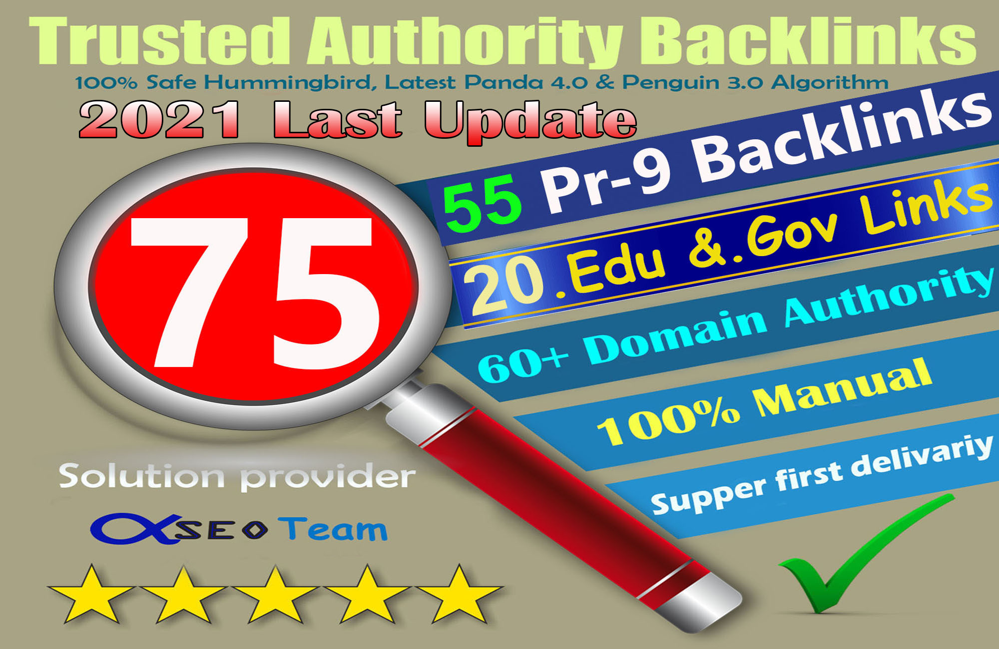 2021 Exclusive Offer-75 Backlinks 50 PR9 +25 EDU/GOV 80+DA manually Do Safe SEO Increase Google rank