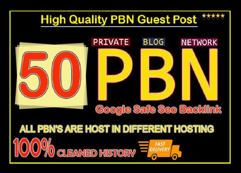 Classic 50 High Metrics PBN Trust flow contextual Permanent backlinks