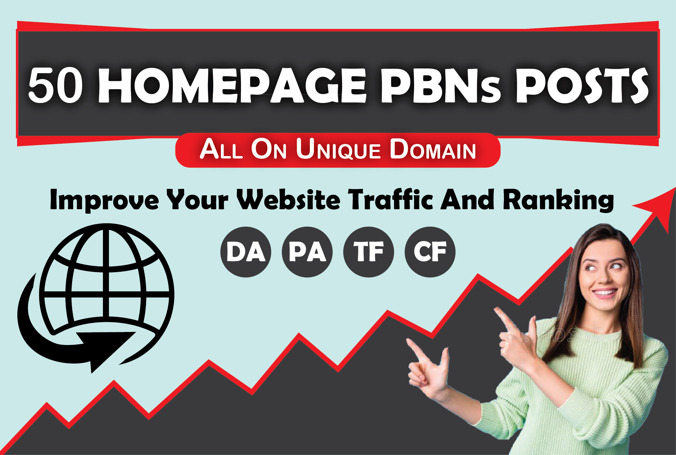BUILD - 50 - HomePage PBNs Backlinks With High DA/PA/CF/TF Moz lowest Spam Rate