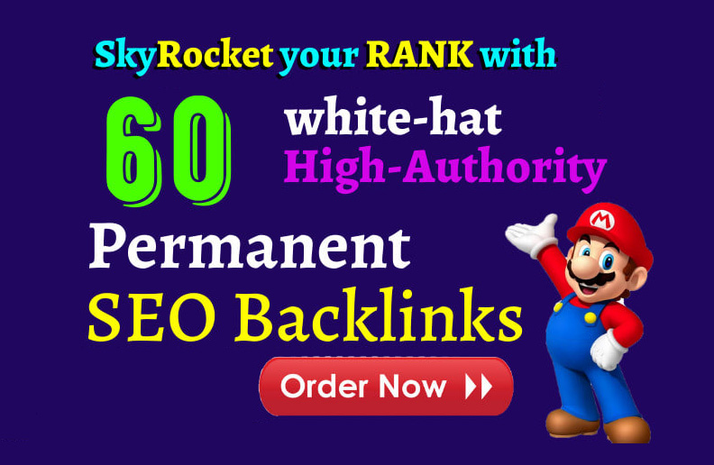 do 60 high authority link building,  SEO backlinks