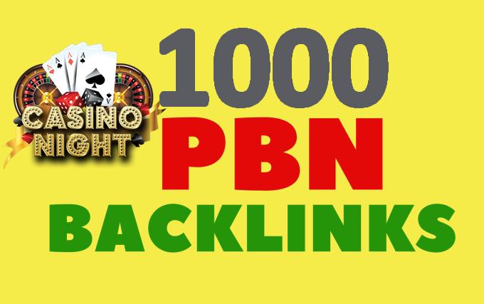 Create 1000 PBN links from DA 60+ sites