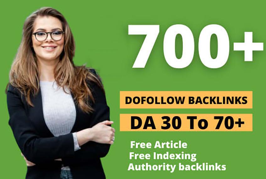 create 700 contextual dofollow backlinks SEO High DA Link building