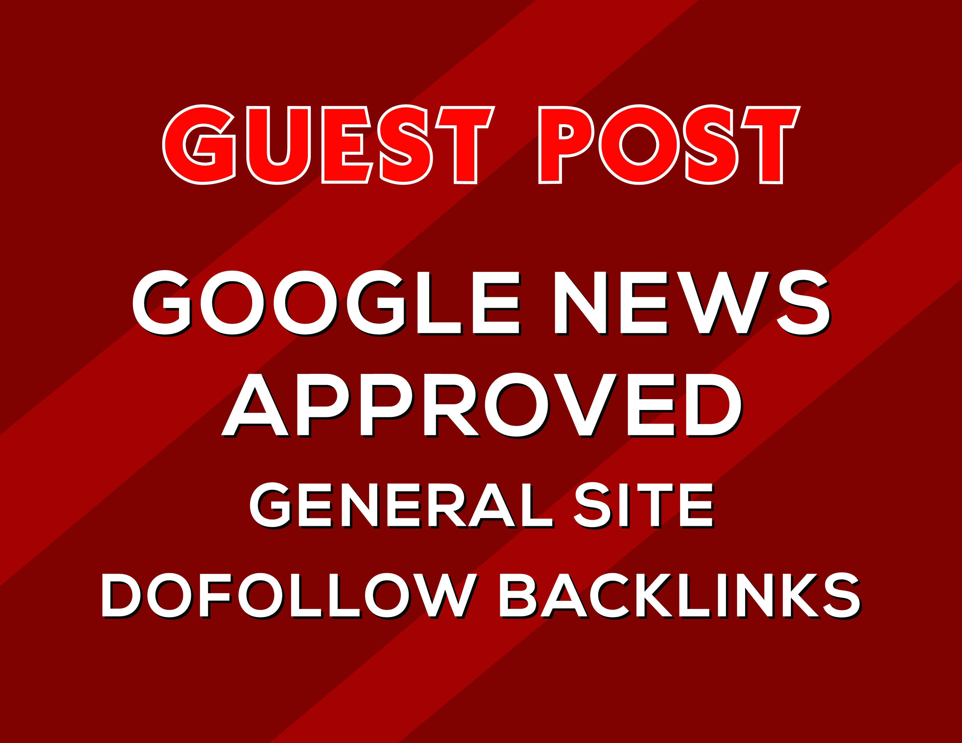 i will do guest post google news approved website