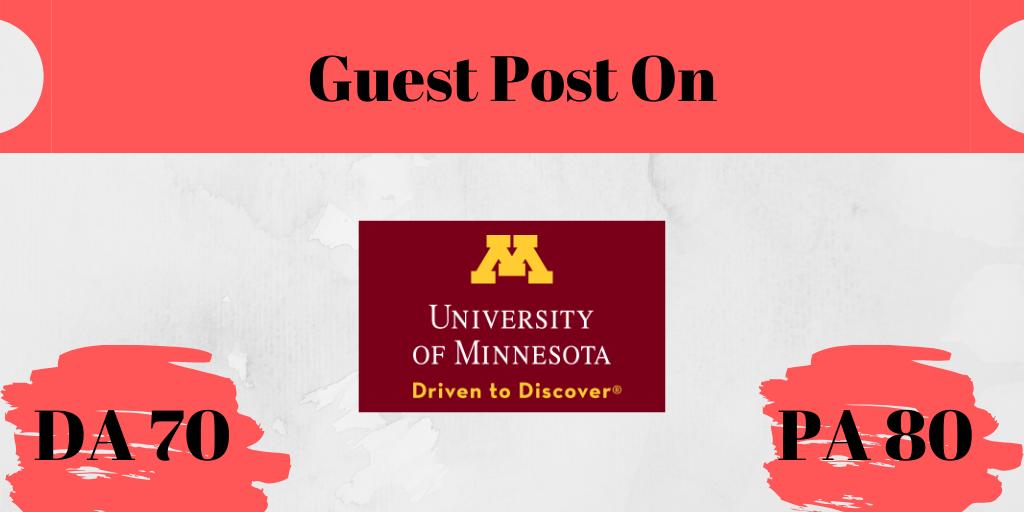 I will do a guest Post on UMN. edu DA75